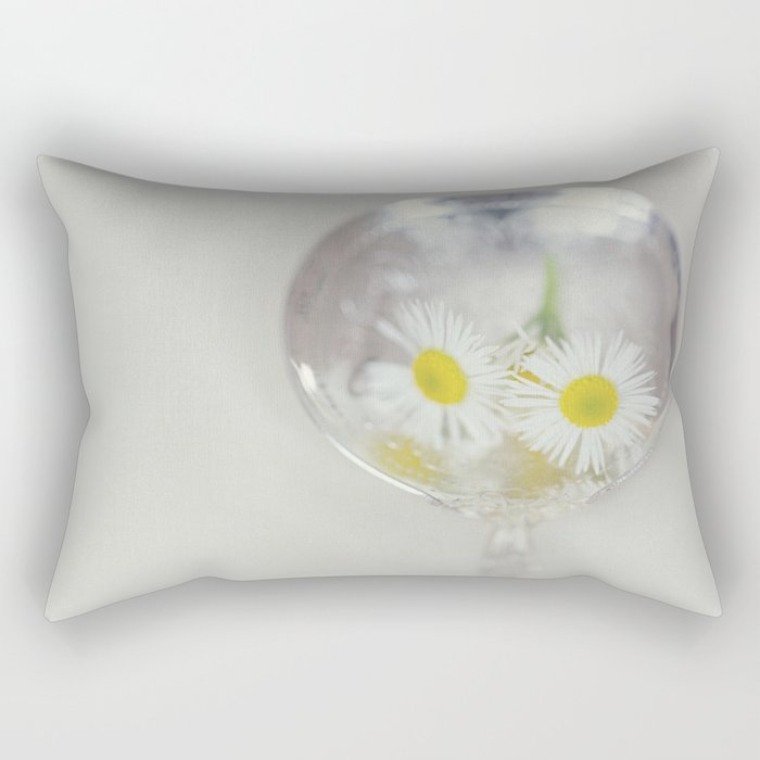 Vintage Spoon and White Flower Rectangular Pillow