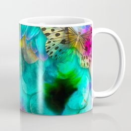 alcohol ink daisy-butterfly Coffee Mug