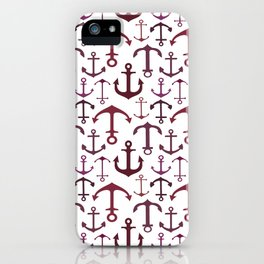 Red Anchors iPhone Case