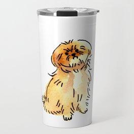 Sandy - Dog Watercolour Travel Mug