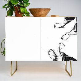 Feet on the sand Credenza