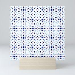 symmetric patterns 114 – whith star of David Mini Art Print