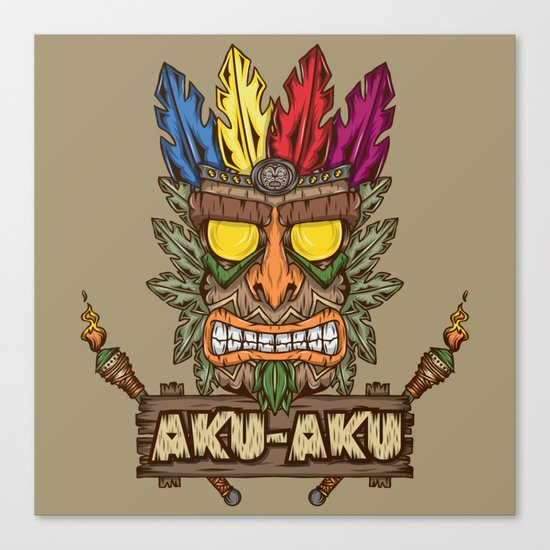 Aku-Aku (Crash Bandicoot) Canvas Print