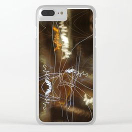 Night Writing Clear iPhone Case
