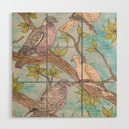Various Pigeons Wood Wall Art