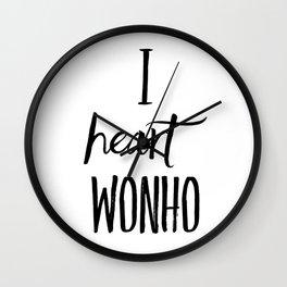 I Heart Wonho - Monsta X (Design 2) Wall Clock