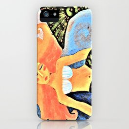 Beautiful Mermaid Abstract Digital Painting iPhone Case