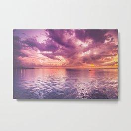 Violet Sea Metal Print