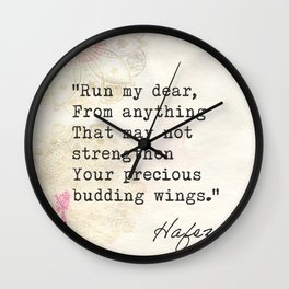 Hafez Old quote Wall Clock