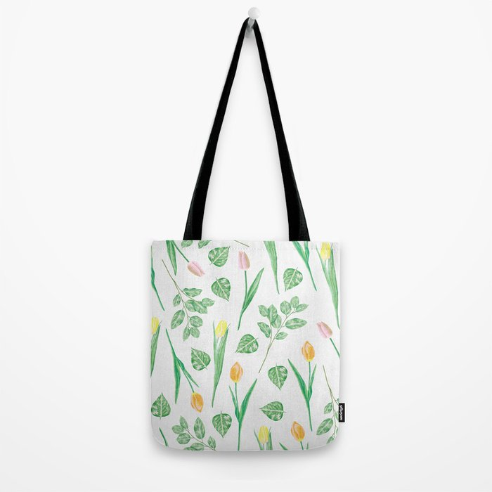 Tulips Floral Pattern Tote Bag