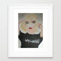 blondie Framed Art Prints featuring Blondie by ArtByAngela