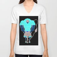 muscle V-neck T-shirts featuring Muscle Pump  by nightfrost4