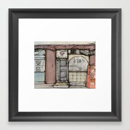 South Korean Shop Front Framed Art Print