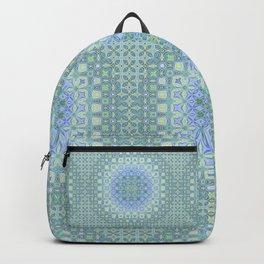 light blue butterfly kaleidoscope Backpack