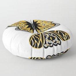 Golden Butterfly & Moth Floor Pillow