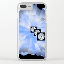 Spacy Diamonds Clear iPhone Case