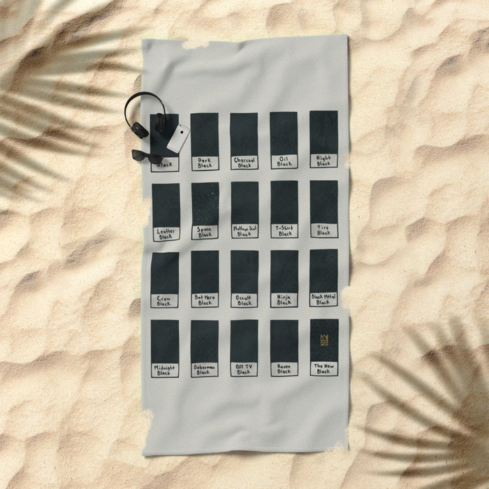 The New Black Beach Towel
