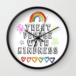 TREAT PEOPLE WITH KINDNESS - PRIDE EDITION Wall Clock