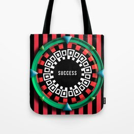 Playing roulette of a successful champion Tote Bag