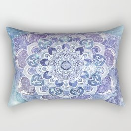 FREE YOUR MIND in Blue Rectangular Pillow