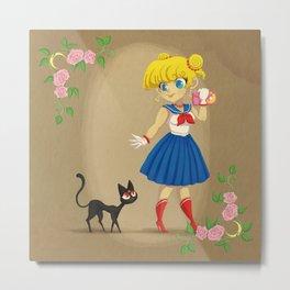 Retro Sailor Moon Metal Print