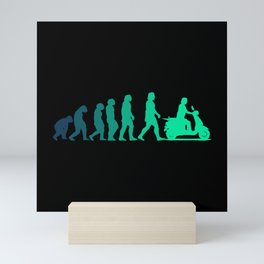 SCOOTER EVOLUTION Scooter Life Gift Moped Scooter Mini Art Print