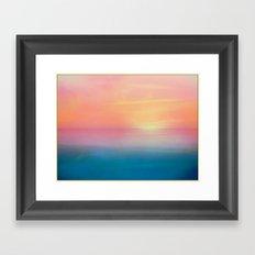 Ombre Sunset Framed Art Print