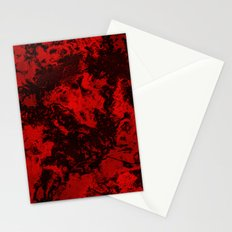 Galaxy in Red Stationery Cards