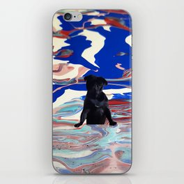 Melt pug iPhone Skin