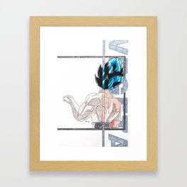 Brofist - Vegeta Framed Art Print
