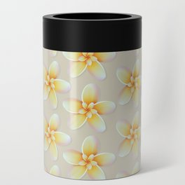 Yellow Flower, Floral Pattern, Yellow Blossom Can Cooler