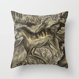 Wild Horse Cavern Throw Pillow