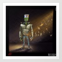 FrankenBoy... Blurred... Art Print