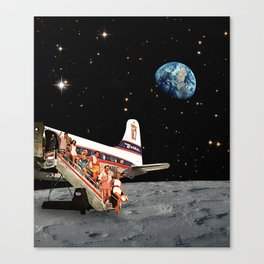 Travel to the Moon Canvas Print