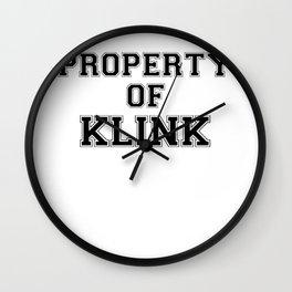 Property of KLINK Wall Clock