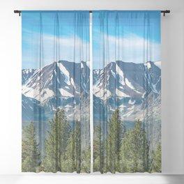 Mammoth Lakes Area, California Sheer Curtain