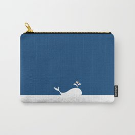 Whale in Blue Ocean with a Love Heart Carry-All Pouch