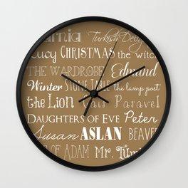 Narnia Celebration - Tortilla Wall Clock