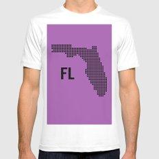 FLORIDA MEDIUM Mens Fitted Tee White