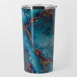 Blue fantasy marble Travel Mug