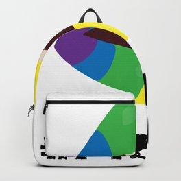 Proud lgbt rainbow lips Backpack