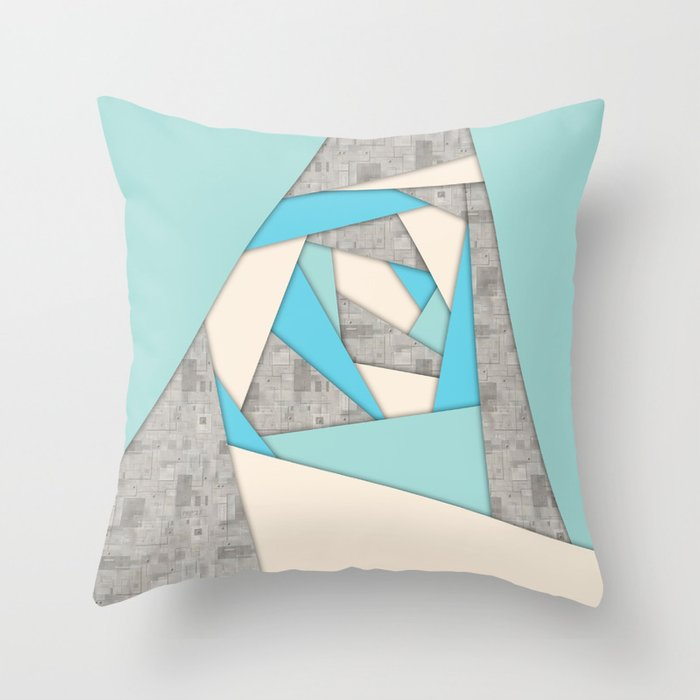 Geometric Shapes Abstract Throw Pillow by perkinsdesigns Society6