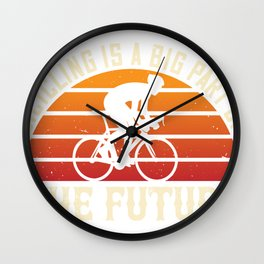 Bicycle -Bicycling is big part of future Wall Clock