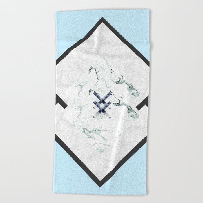 Scandinavian Marble Beach Towel