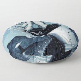 Stormy Seas Gothic Mermaid Floor Pillow