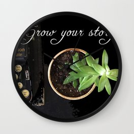 Grow Your Story Wall Clock