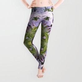 Lacy Lavender Wild Bergamot Kaleidoscope Leggings