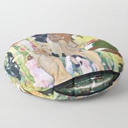 Hot Tub Klimt Machine Floor Pillow