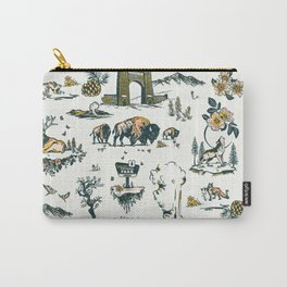 Yellowstone National Park Travel Pattern Design Carry-All Pouch