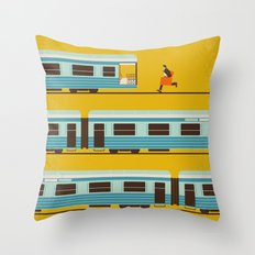 No800 My The Darjeeling Limited minimal movie poster Throw Pillow